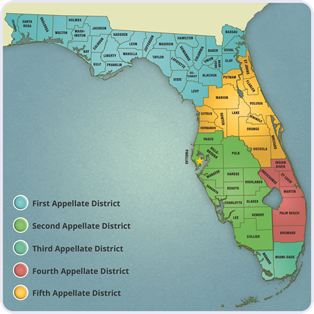 Florida Appellate Court Map